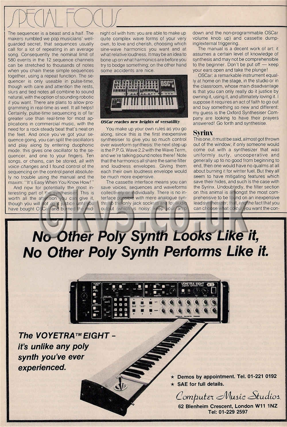 Oscar Synthesizer